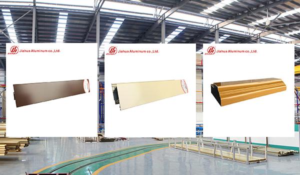 6063 profilés d'extrusion d'aluminium pour revêtement en poudre