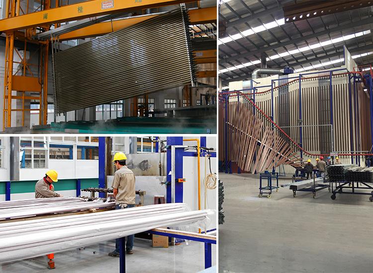 Profilés d'extrusion en aluminium, finition de surface